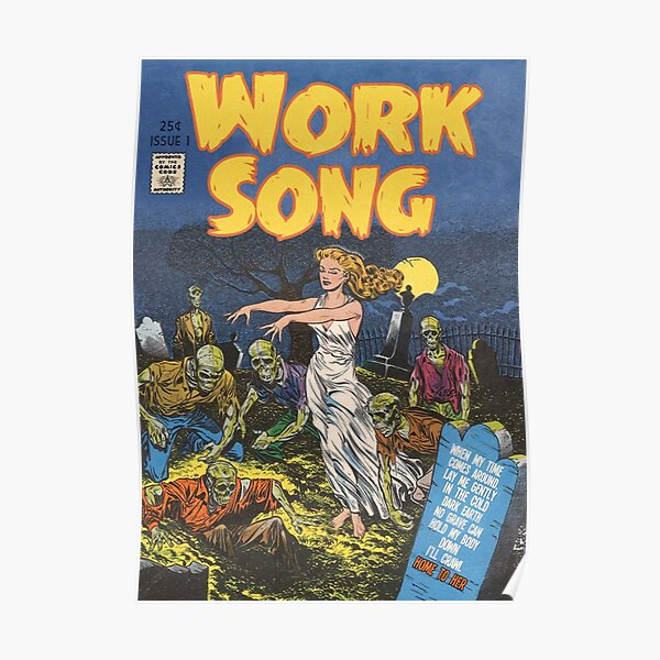 Work Song - Hozier Retro Comic  Poster