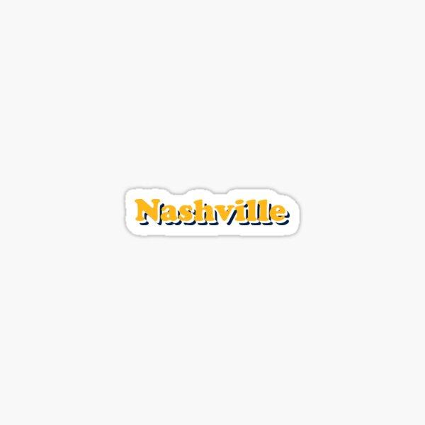 Nashville Predators Groovy Team Colors Sticker
