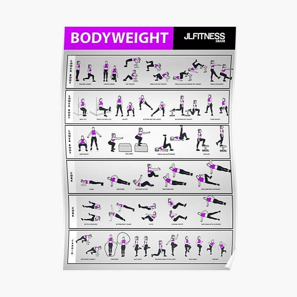 Female Bodyweight Training- 32 Illustrated Exercises Poster