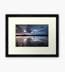 Storm Cloud Blues Framed Print