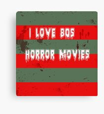 I love 80s horror movies Canvas Print