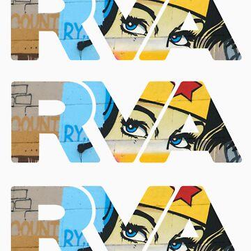 "RVA - flood wall ""Wonder Women stickers"" by CUNRVA"