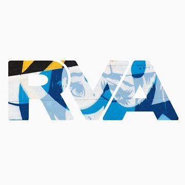 "RVA - flood wall ""PoP Art"" by CUNRVA"