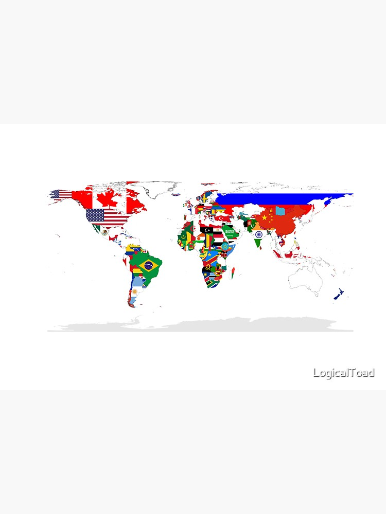 World Map with Country Flags by LogicalToad