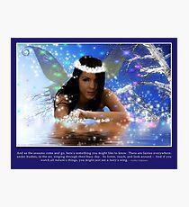 Ice Fairy Photographic Print