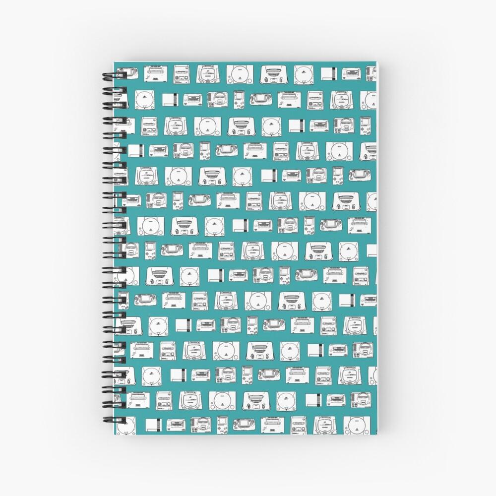 Consolas de los 80 y 90 (Turquesa) Cuaderno de espiral