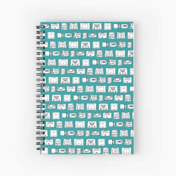 Consoles from the 80s and 90s (Turquoise) Spiral Notebook