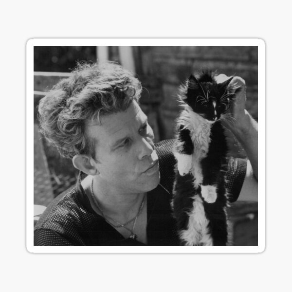 Tom Waits and cat Sticker