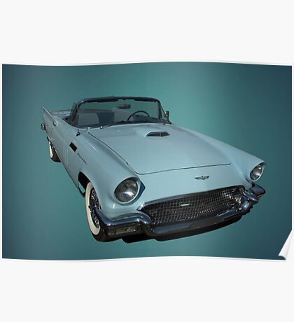 Baby Blue 1957 Ford Thunderbird Poster