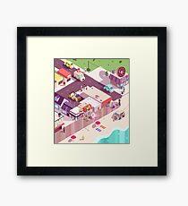Isometric Beach City Framed Print