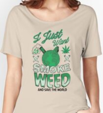 SMOKE WEED Women's Relaxed Fit T-Shirt