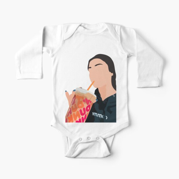 famous influencer from TIK TOK. Long Sleeve Baby One-Piece