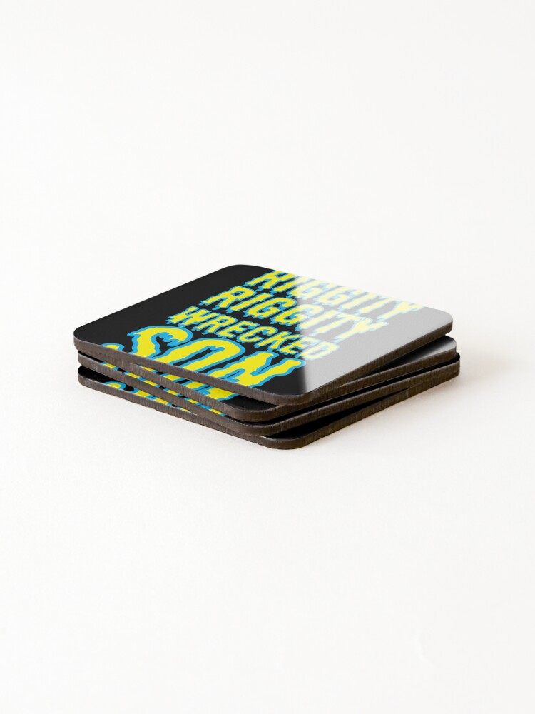 Alternate view of Time to Get Riggity Riggity Wrecked Son Coasters (Set of 4)