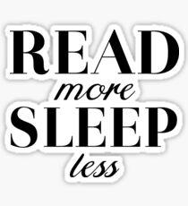 Read/Sleep Sticker