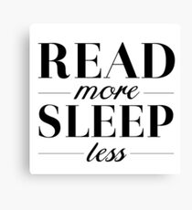 Read/Sleep Canvas Print