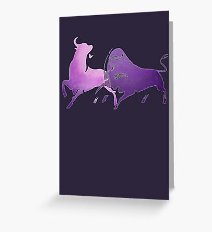 Bull Fight in Lilac Greeting Card