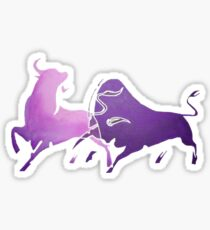 Bull Fight in Lilac Sticker