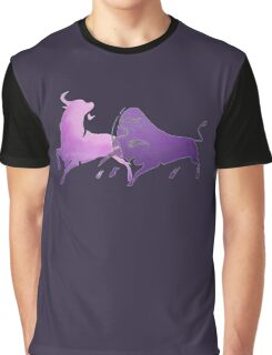 Bull Fight in Lilac Graphic T-Shirt