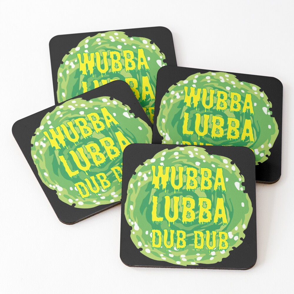 Wubba Lubba Dub Dub - Ricky And Morty Coasters (Set of 4)
