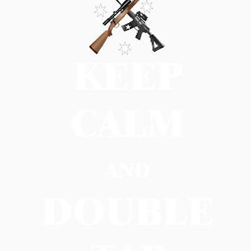 Keep Calm & Double Tap! dark shirts by NemesisGear