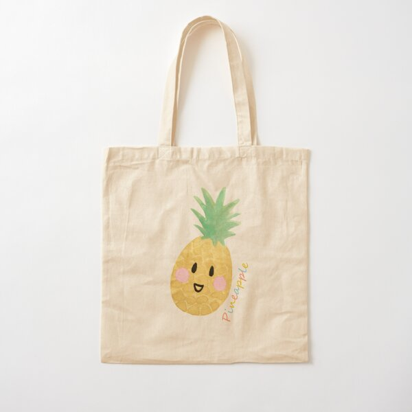 The Happy Pineapple Cotton Tote Bag