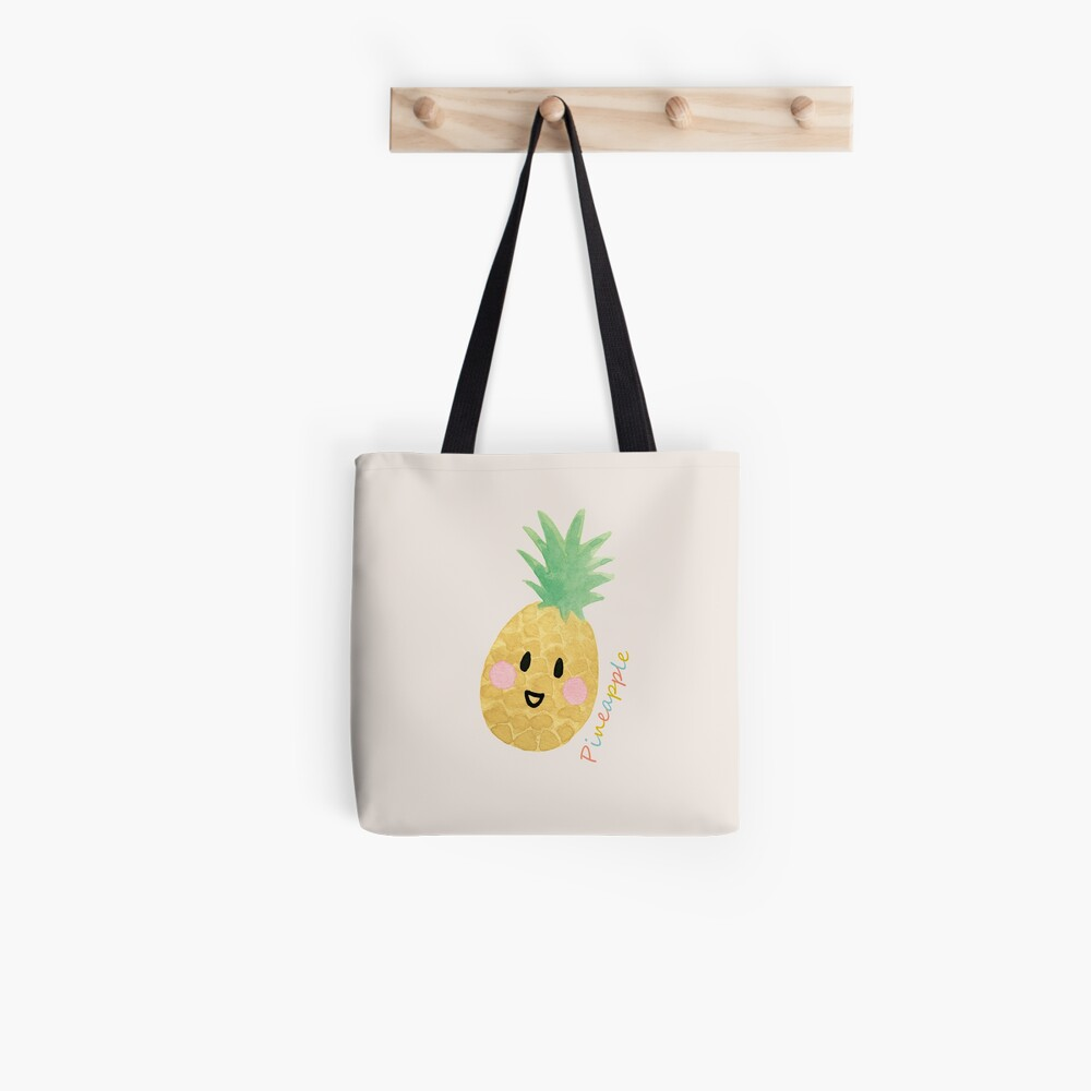 The Happy Pineapple Tote Bag