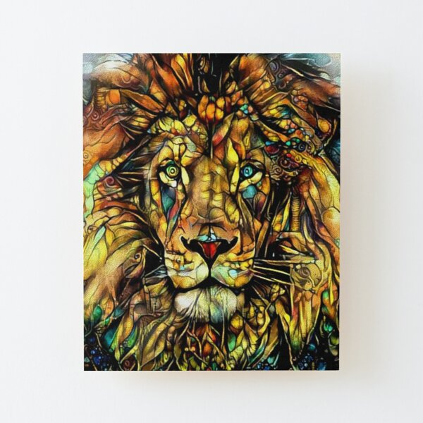 Jungle King by Dream Garden Graphics Wood Mounted Print