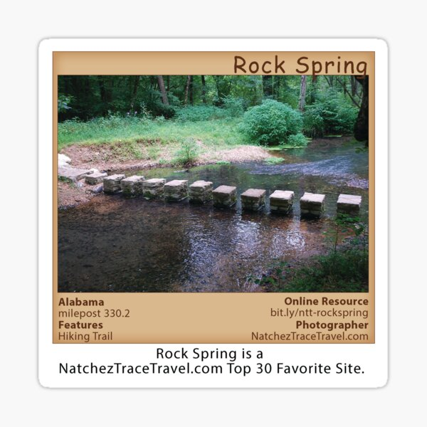Rock Spring (summer) on the Natchez Trace Parkway. Sticker