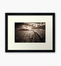 Vanishing Into  the Distance Framed Print