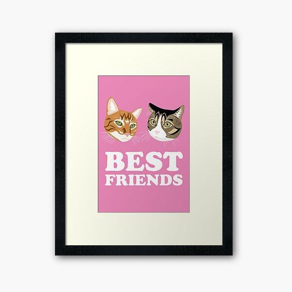 Beste Freunde (Katzen) Gerahmter Kunstdruck