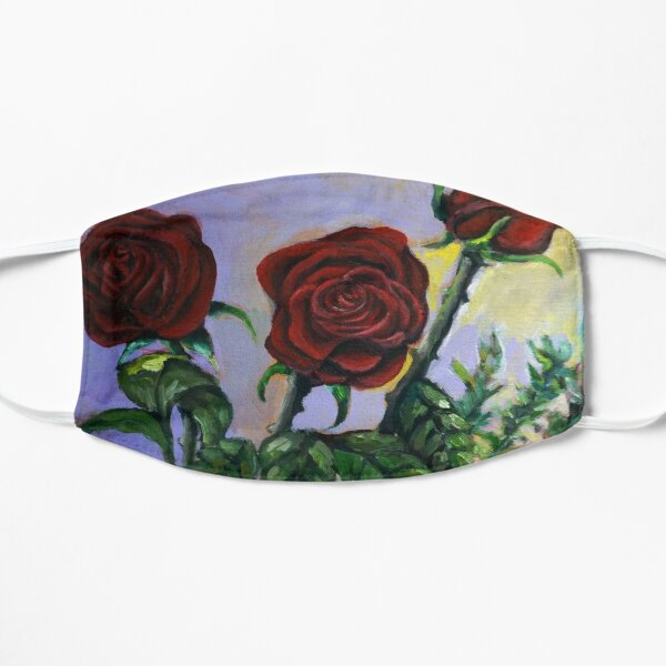 Red Roses Floral Art  Mask