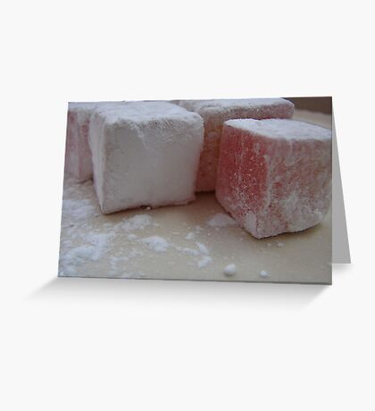 Rose Turkish Delight Close Up Greeting Card