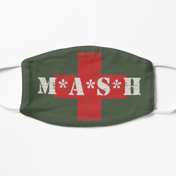 Mash Red Cross TV Show Helicopter Distressed Retro Vintage  Flat Mask