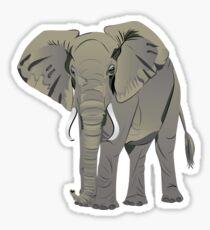 African Elephant Sticker