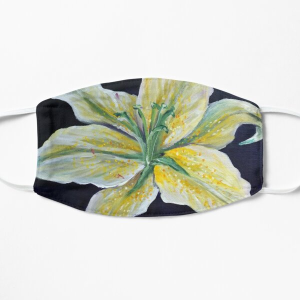 Yellow Lily Flower Floral Art  Mask