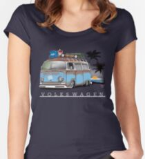 Bay sittin' at the Beach Women's Fitted Scoop T-Shirt