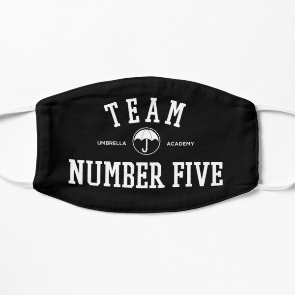 TEAM NUMBER FIVE THE UMBRELLA ACADEMY Flat Mask