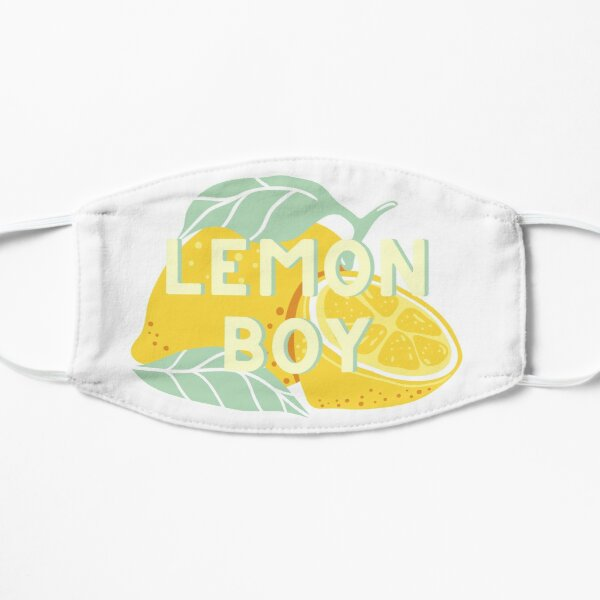 Lemon Boy // Cavetown Ilustración Mascarilla plana