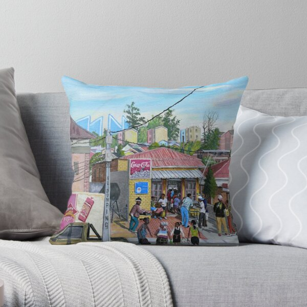 Tommy Machaba - Alex in a Day Throw Pillow