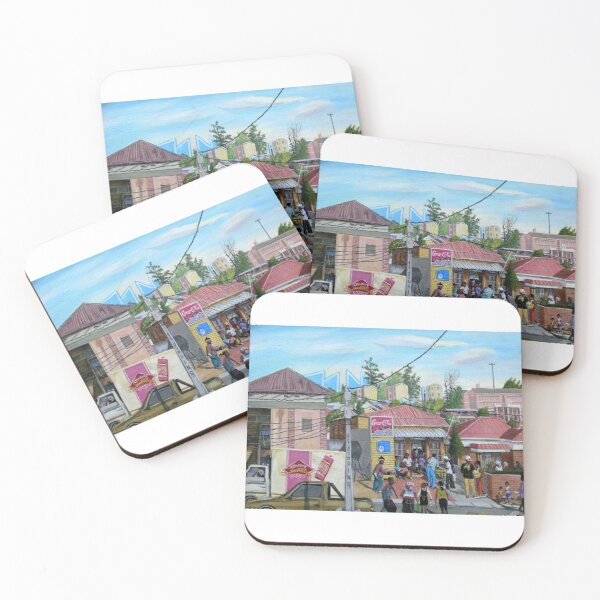 Tommy Machaba - Alex in a Day Coasters (Set of 4)