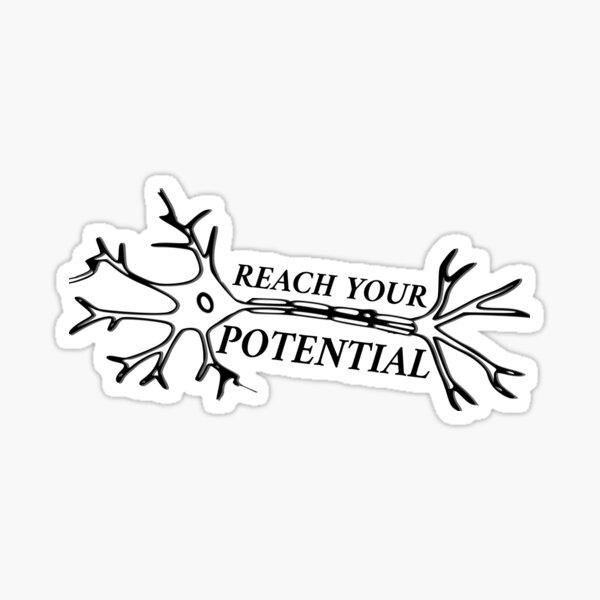 Motivational Neuron: Reach Your Potential Sticker