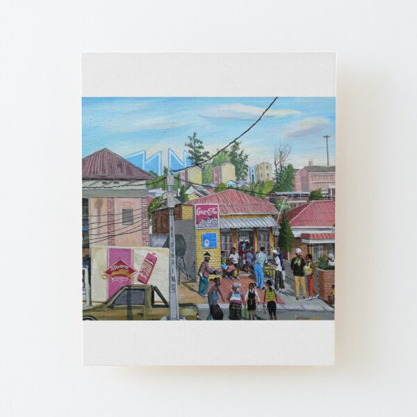 Tommy Machaba - Alex in a Day Wood Mounted Print