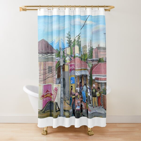 Tommy Machaba - Alex in a Day Shower Curtain
