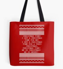 Britta Christmas sweater Quote Tote Bag