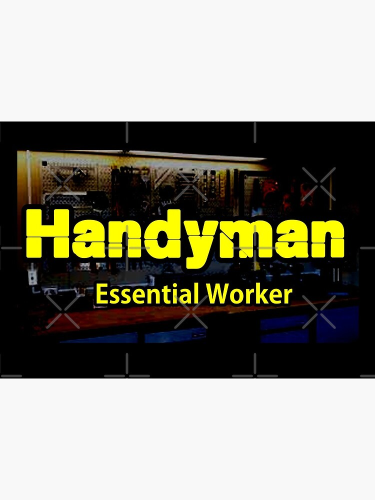 Handyman Essential Worker design by Mbranco