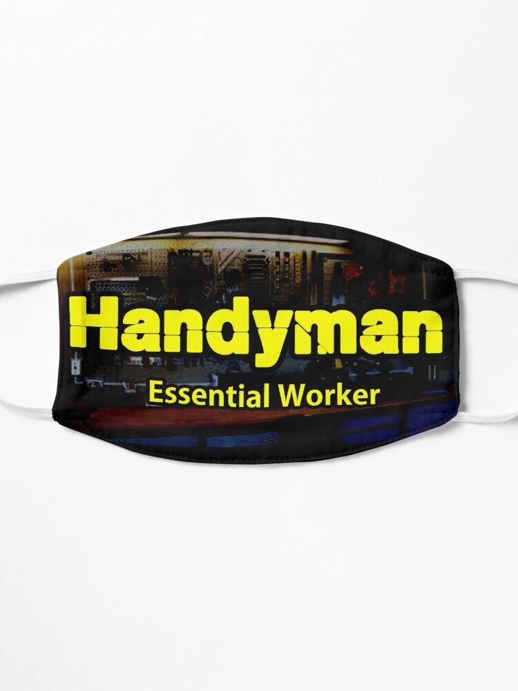 Alternate view of Handyman Essential Worker design Mask