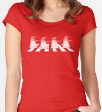 EXTERMINATE ROAD Daleks on Abbey Road Dr Who The Beatles ! - T Shirts , Hoodies , Mugs , Scarves & Much More Women's Fitted Scoop T-Shirt