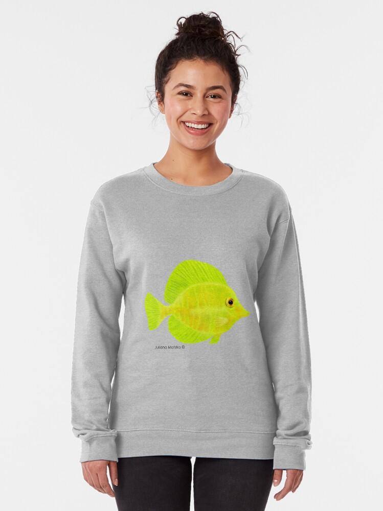 Alternate view of Yellow Tang Fish Pullover Sweatshirt