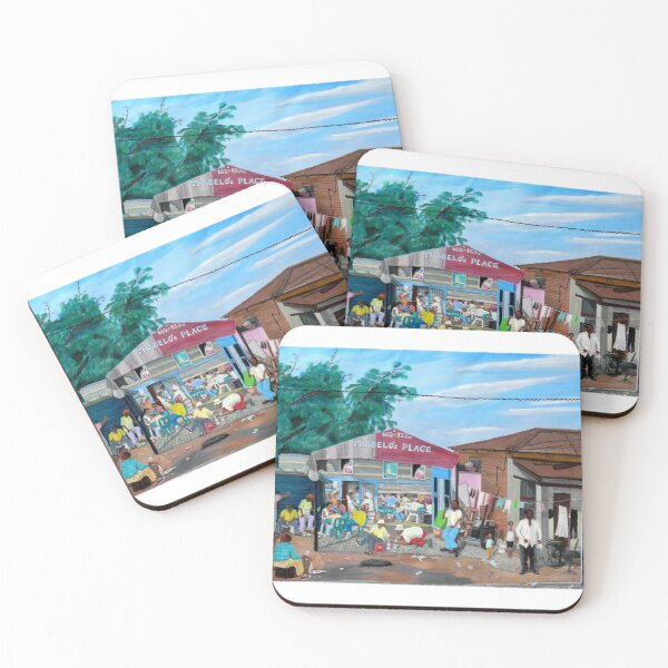 Tommy Machaba - Over at the Shebeen Coasters (Set of 4)