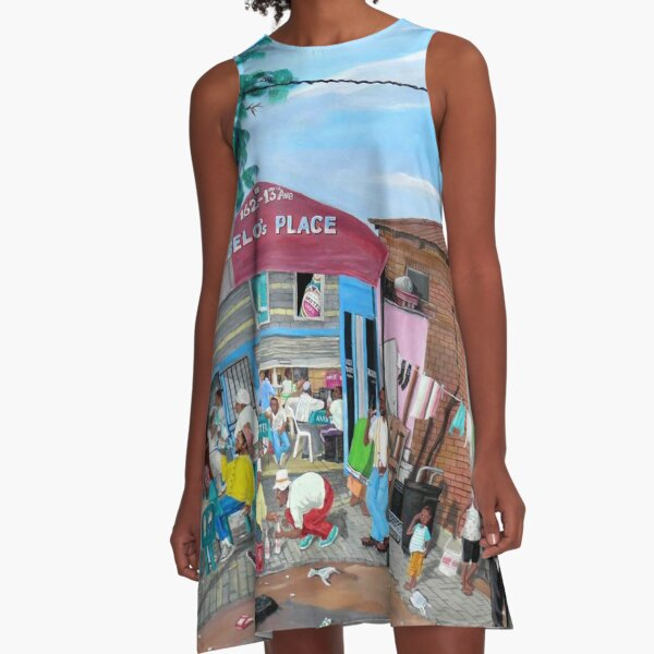 Tommy Machaba - Over at the Shebeen A-Line Dress